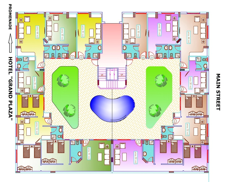Master-plan-Intercontinental-Residence-Hurghada