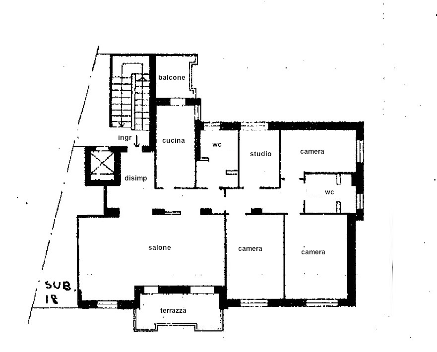 Planimetria_Milano Bande Nere appartamento 5 Locali in vendita