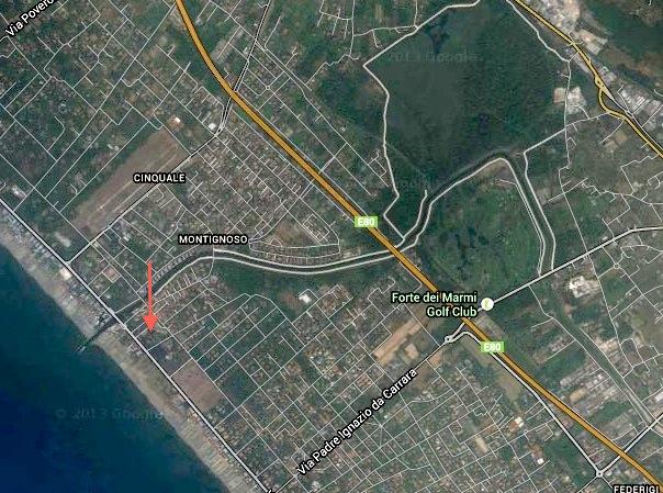 Affitti Vacanze Versilia Forte dei Marmi Villa con piscina Posizione VILLA OKV A212