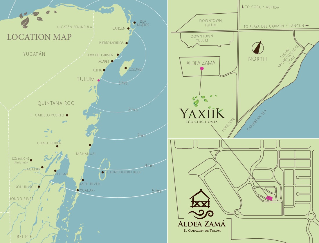 YAXIIK Eco Chic Homes - Location map