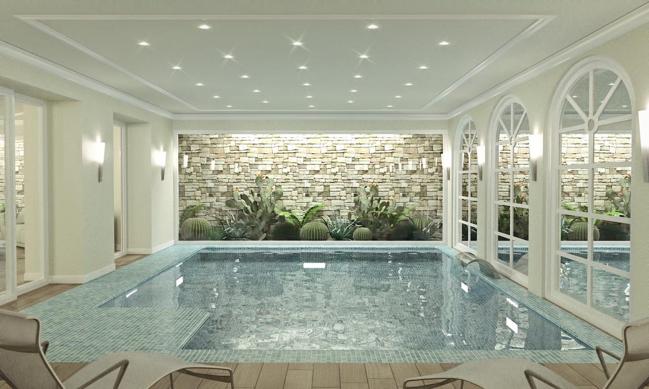 Forte dei marmi vendita villa con giardino e piscina interna for Piani di casa con due master suite al primo piano
