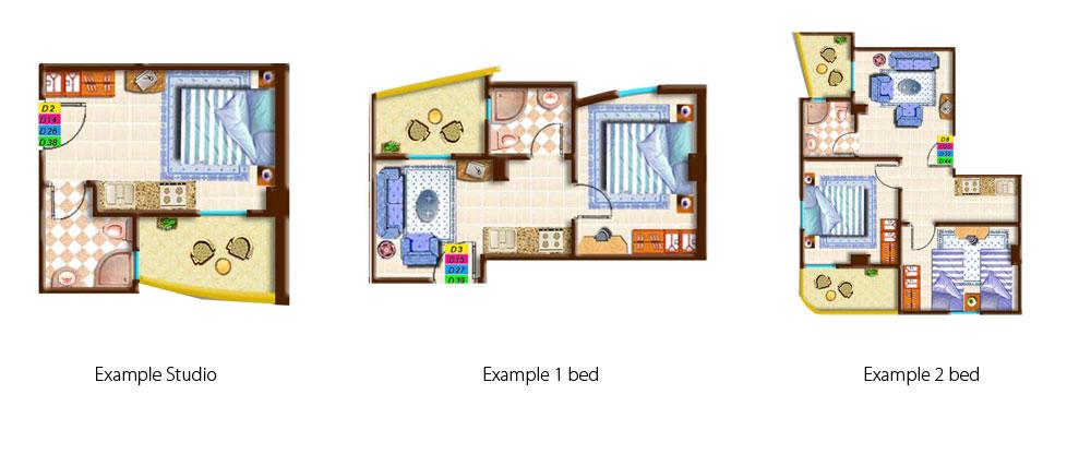 Tipa Plaza esempio appartamenti