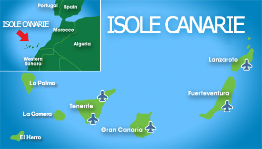 isole canarie map