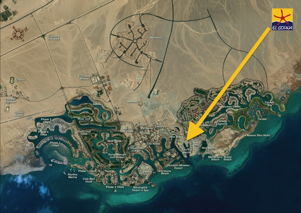 Abu Tig Marina map - El Gouna