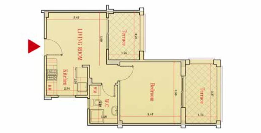 Appartamento a piano terra Marsa Alam - planimetria